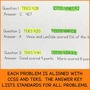 College Football Math Problems (Grade 4)
