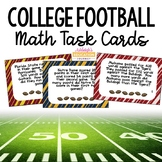 College Football Math Task Cards