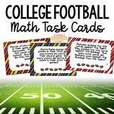 College Football Math Task Cards