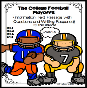 College Football Playoffs Reading Comprehension Passages