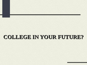 College In Your Future? PowerPoint