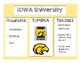 College Posters / Infusion for your Classroom -Big Ten Conference- College Flare