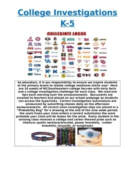 College Investigations for K-5 Students