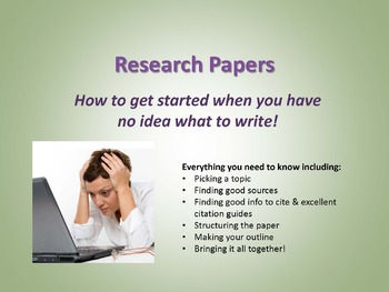 College Level (or high school) Research Paper Guide