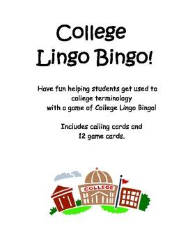 College Lingo Bingo!