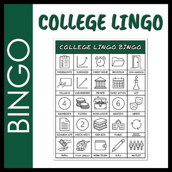 College Lingo Bingo