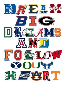 College Logo Poster