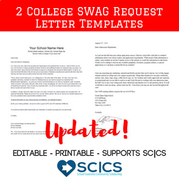 UPDATED College Materials Request Letter - Get College SWAG in the mail!