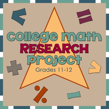 College Math Preparation Research Worksheet