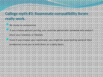 College Myths and Realities Powerpoint