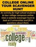 College Online Tour Scavenger Hunt (GOOGLE SLIDES)