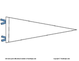 College Pennant Coloring Page.  Great for college planning. Career education.