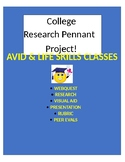 College Pennant Project!  Webquest, Research, Create, & Present!