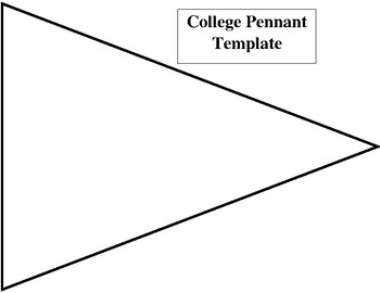 College Pennant Template By Yvette Chavez
