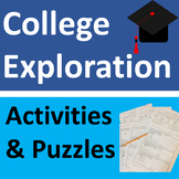 College Planning & Exploration Activities and Puzzles