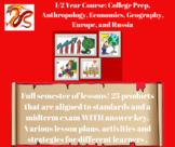 College Prep, Anthropology, Economics, Geography, Europe,
