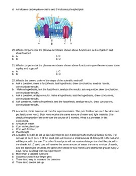 College Prep Biology Winter Semester Exam