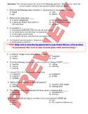 College Prep Chemistry Midterm Exam
