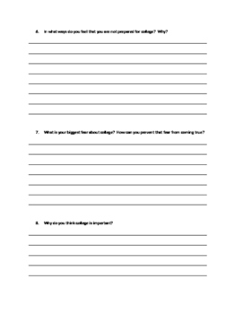 College Questionnaire for High School Seniors