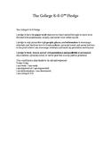 College R-E-D™ Character Pledge