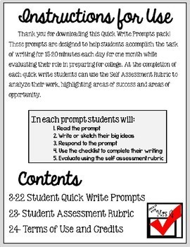 writing prompts for college students