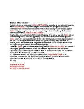 Recommendation Letter For Teacher from ecdn.teacherspayteachers.com