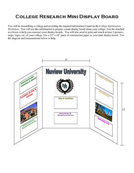 College Research Mini Display Board