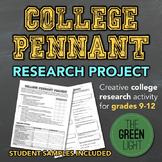 College Research Pennant Project With Worksheet