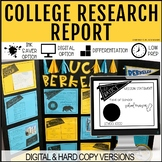 College Research Project Paper & Digital Options + Technical School