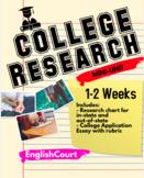 College Research mini-unit