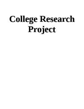 College Research/Readiness Project