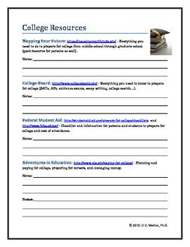 College Resource Worksheet