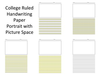 College Ruled Handwriting Paper (Highlight, Highlights, Highlighted) (OT)