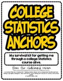 College Statistics Mini-Posters/Study Guides