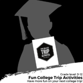 College Trip Activity Bundle