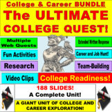 College and Careers Web Quest Bundle