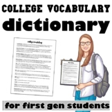 College Vocabulary Dictionary for First Generation Students