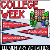 College Week Activities With Morning Meeting Plans