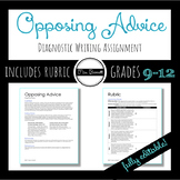 """Opposing College Advice"" Writing Assignment (Editable!)"