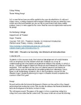 College Writing/Senior Seminar Prep