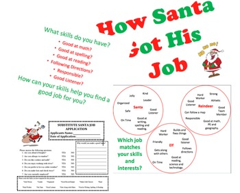College and Career Awareness Lesson Elementary How Santa got his Job