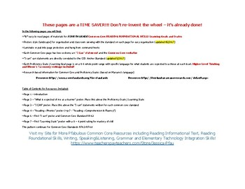 """College and Career (Common Core) ELA """"Reading Foundational Skills"""" - UPDATED"""