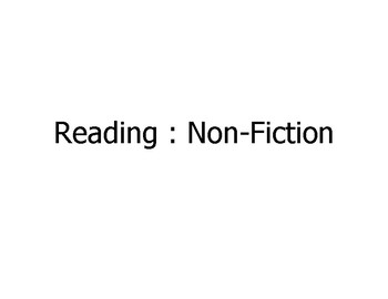 """College and Career (Common Core) Language Arts """"Reading Non-Fiction"""" - UPDATED"""