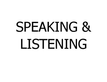 """College and Career (Common Core) """"Speaking and Listening"""" - UPDATED"""