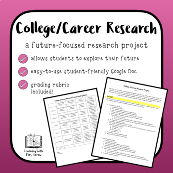 DIGITAL College and Career Research Project: Students Plan for the Future