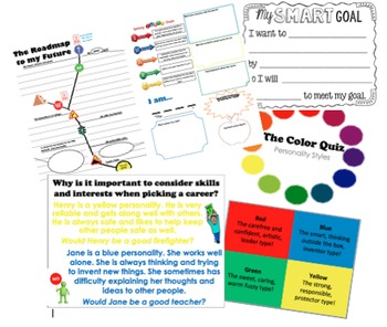 College and Career Exploration Awareness Unit Lessons for Elementary - Middle