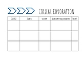 College and Career Exploration Worksheet/Naviance Compatible