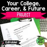 College and Career Project, Editable