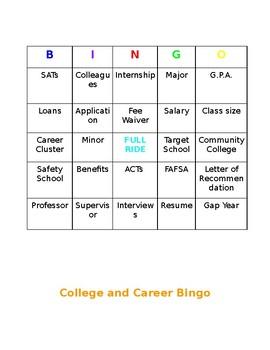 College and Career Readiness Bingo