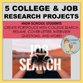 College and Career Research - 5 Projects